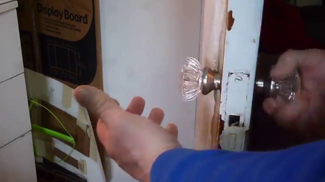 REPLACING VINTAGE GLASS DOOR KNOBS HOW TO   YouTube