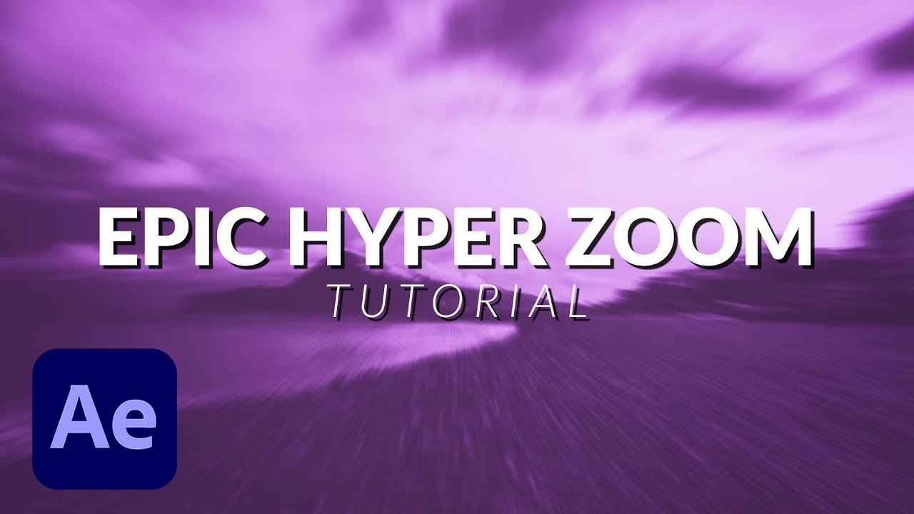 Epic Hyper Zoom Animation Effect in After Effects Easy Tutorial