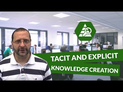 What is tacit and explicit knowledge creation - Innovation and Marketing