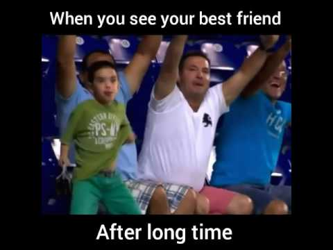 When you see your best friend after long time - YouTube