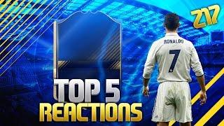 RONALDO 99 TOTY IN PACK | TOP 5 REACTIONS | FIFA 17