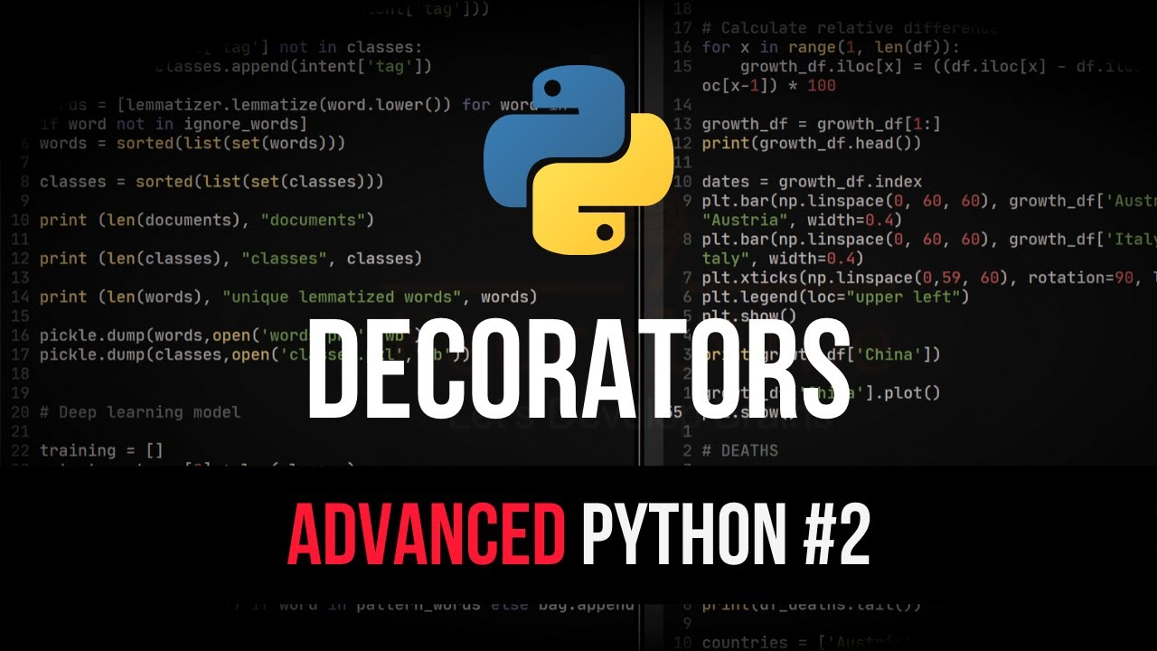 Decorators - Advanced Python Tutorial #2