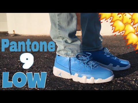 new style fb3c8 d26a7 Air Jordan 9 Pantone Low Review + On Feet - YouTube