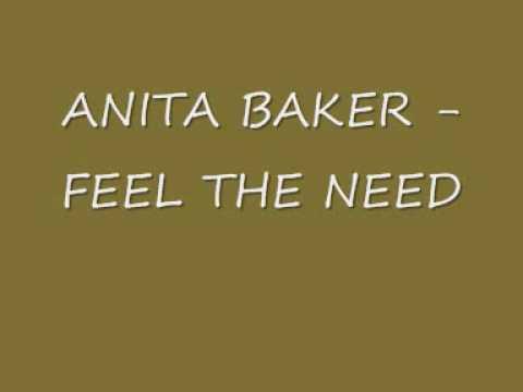 ANITA BAKER - FEEL THE NEED