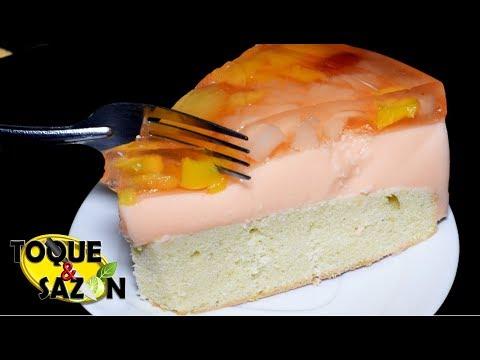 PASTEL DE GELATINA DOBLE   Fruta + Yogur GELAPASTEL