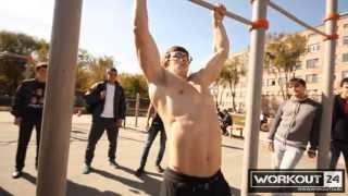 Выход силой на две (обучающее видео)  Muscle up. tutorial