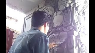 Watching Artist Decor House Column - Just Amazing Construction Work
