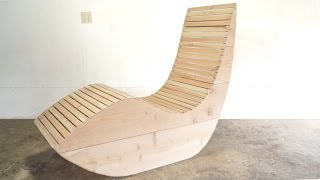 I wanted to build an outdoor lounge chair that would be really comfortable to sit in, but also have a really smooth, clean profile. After