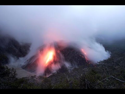 Volcano Eruption Mount Kelud , Indonesia Close up latest video