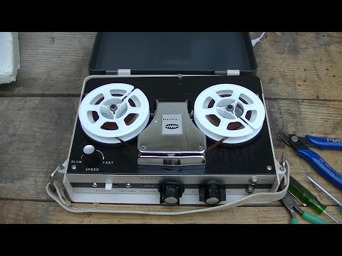 Vintage Electra Tape Recorder 4 Transistor Early Japan Built Repair