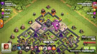 Clash of clans: gameplay hdv 9 ballons moloss
