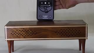 원목소품Unplugged wooden speaker1