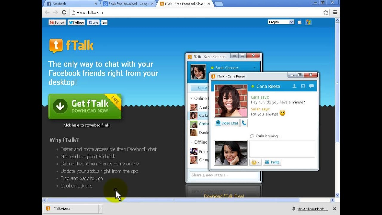 Facebook talk download