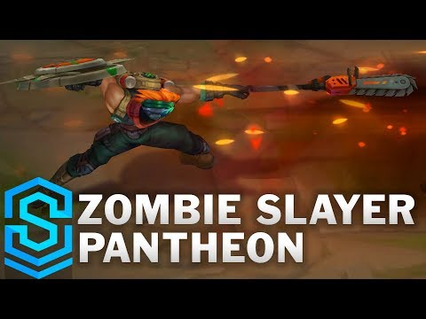 Zombie Slayer Pantheon Skin Spotlight - Pre-Release - League of Legends