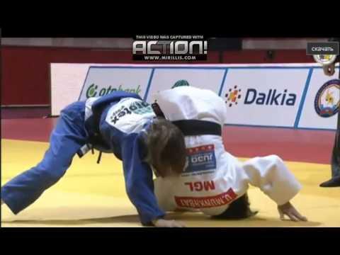 Judo.Grand Slam Baku-2014.Final.48 kg.Urantsetseg Munhbat (MNG) vs Rosseneu Amelie (ISR)