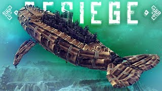 Besiege - Flying Castle Whale, Giant Land Battleship Tank & More! - Best Besiege Creations