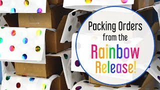 Packing Orders from the Rainbow Release | MO River Soap