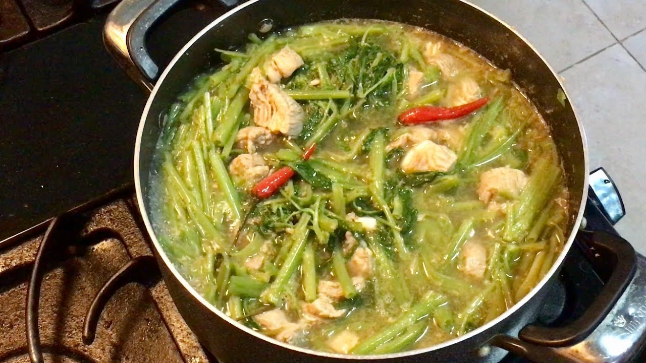 Cambodian Lemongrass Sour Soup with Water Spinach and Pork ... | 1280 x 720 jpeg 161kB