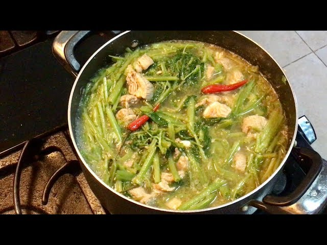 Cambodian Lemongrass Sour Soup with Water Spinach and Pork Rib | ??????????????????????????????????