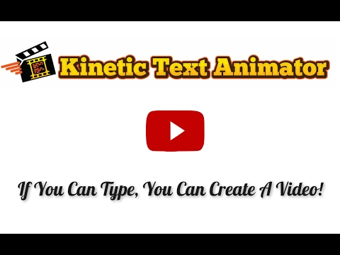 KineticTextAnimator - kinetic text animation software ...