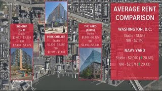 Rent prices in Navy Yard, SW Waterfront growing 3x faster than rest of DC
