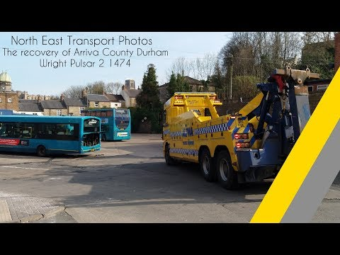 Tow Time | Arriva Durham County Wright Pulsar 2 1474 NK61 CYH Getting Towed