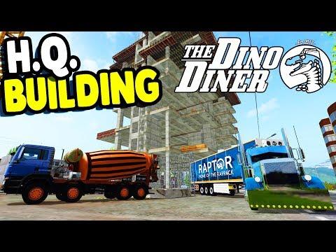 DINO DINER H.Q. Build, HUGE Mining Machine | Rappack Farms #74 | Farming Simulator 17  Gameplay