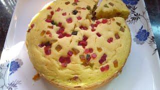 Eggless Tutti Frutti Cake Without Oven | Tutti Frutti Cake Recipe | Ghare
