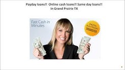 Payday loans in Grand Prairie TX
