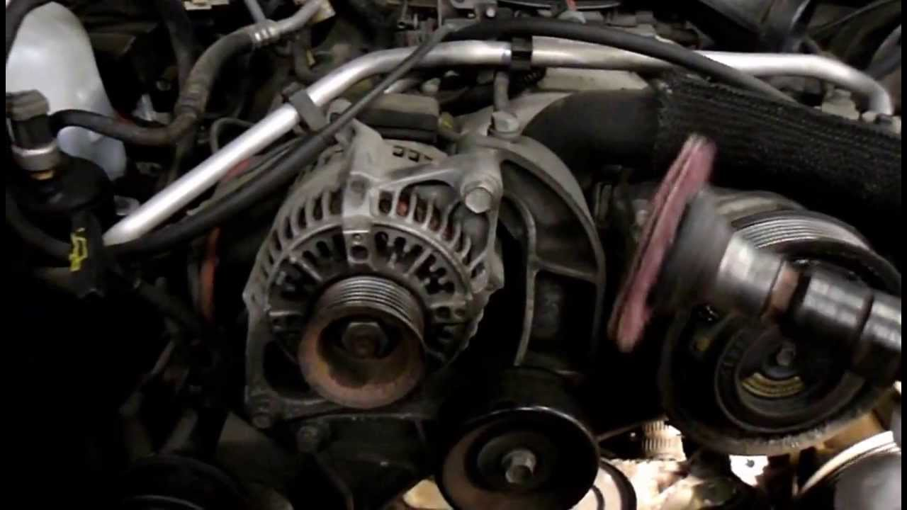 How To Replace The Water Pump On A 1996 Jeep Grand Cherokee 52 liter  YouTube