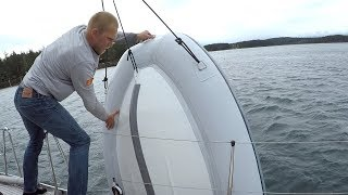 capsized-dealing-with-a-soaked-outboard-engine-ep-154-ran-sailing