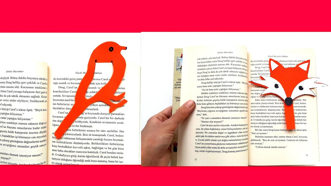 Keçeden Kuşlu Kitap Ayracı Yapımı