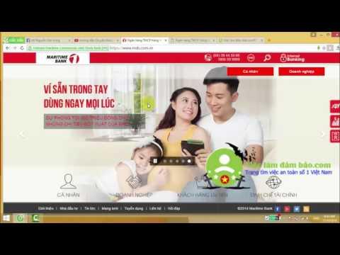 Hướng dẫn chuyển khoản trực tuyến ngân hàng Maritime bank