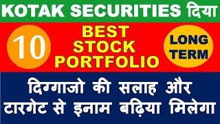 Kotak securities best stocks list in market crash   multibagger shares 2020 India   buy top stocks