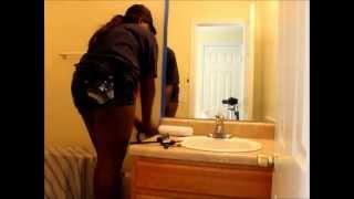 Diy Painting My Downstairs Bathroom (peach)