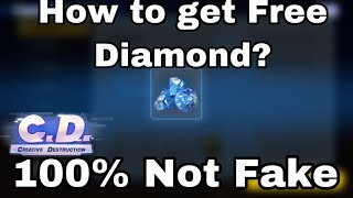How to get free diamonds on Creative Destruction?