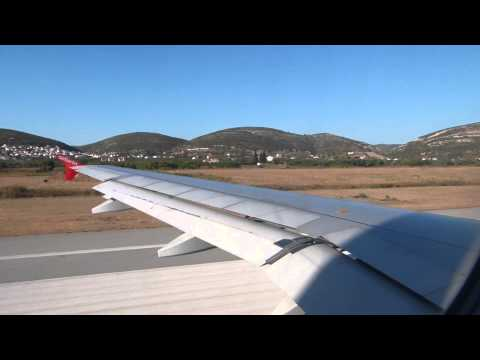 Windy Takeoff from Samos - AB3563 - 23.09.2013
