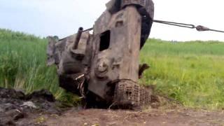 подъем танка Т-34-76(переворот его 2)