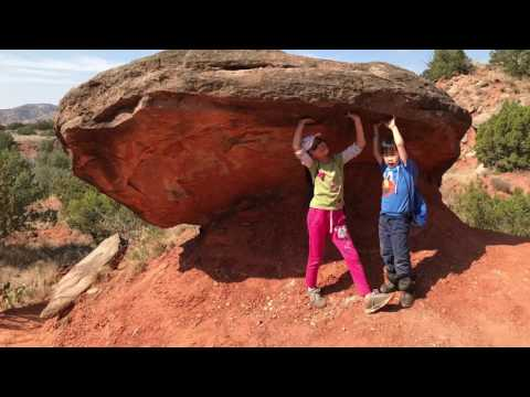 Hike at TX Palo Duro Canyon in March