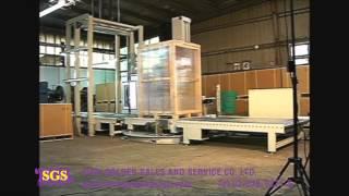 Repeat youtube video เครื่องพันพาเลทแบบมีแผ่นจับสินค้า เครื่องพันพาเลทอัตโนมัติ Pallet Wrapping machine ไลน์แพ็คอัตโนมัติ