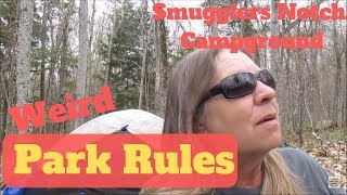 Vermont Campgrounds Have Weird Rules - Smugglers Notch