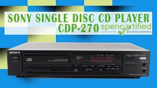 SONY VINTAGE SINGLE DISC CD PL…