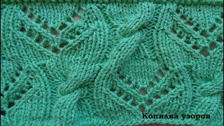 Узор спицами для пуловера схема и описание