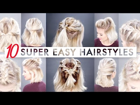10 Easy Half Up hairstyles for SHORT HAIR | Milabu