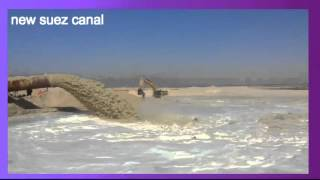 New Suez Canal dredging archive and tubes expulsion southern sector January 26, 2015