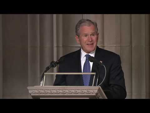 George W Bush full eulogy at George HW Bush funeral [FULL VIDEO]