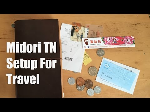Midori Traveler's Notebook: Set-up Video for Travel