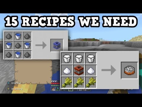 Minecraft xbox pe 15 new crafting recipes we need for Minecraft xbox one crafting recipes