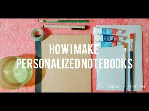 How I make Personalized Notebooks || Philippines || Mariane Manila