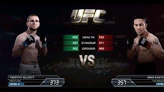 UFC EA Sports Boxing Timothy Elliott VS Mike Easton Gameplay